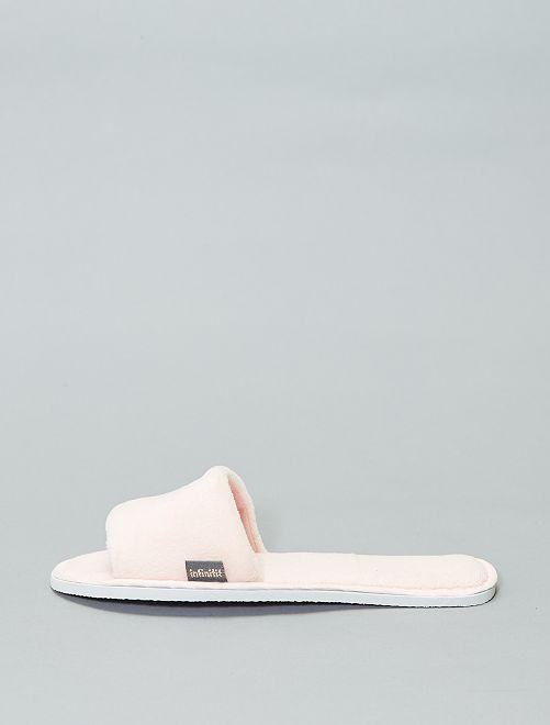 Zapatillas de casa destalonadas                                                                 rosa Mujer talla 34 a 48