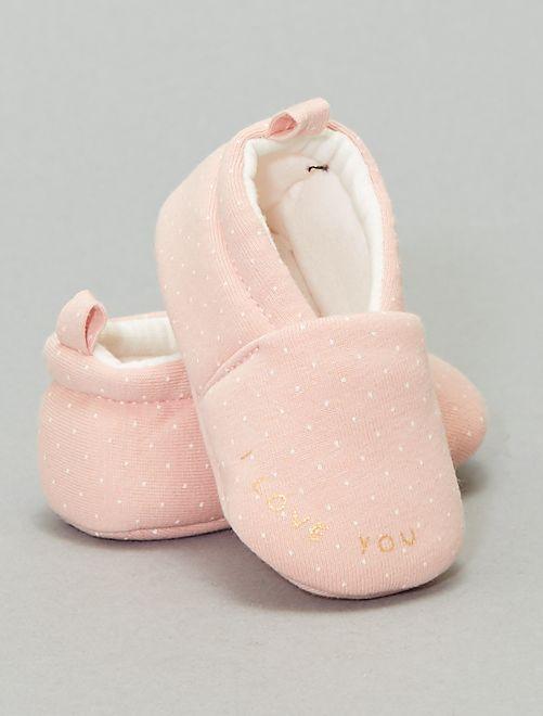 Zapatillas de casa estampadas                                         ROSA