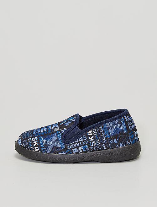 Zapatillas de casa estampadas 'skate'                             AZUL