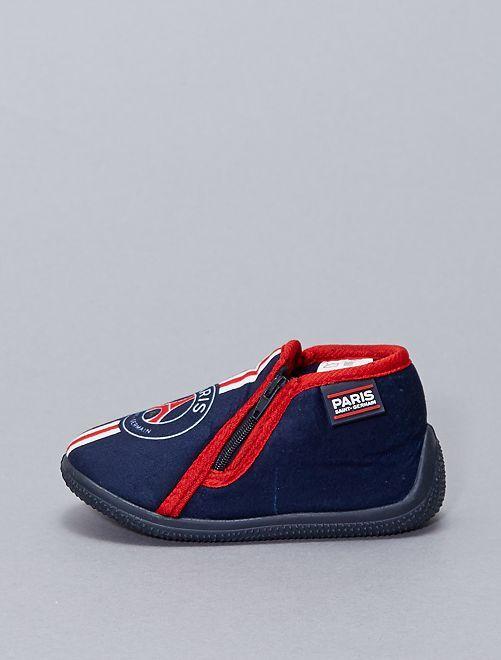 Zapatillas de casa flexibles de tela 'PSG'                             azul