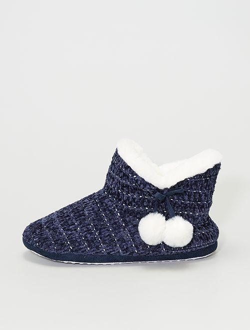 Zapatillas de casa forradas                                         azul marino