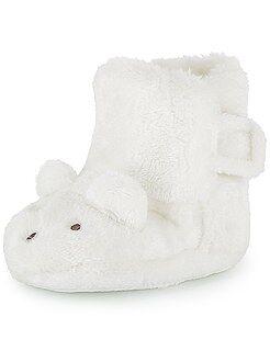 Zapatillas de casa forradas con conejo en 3D - Kiabi