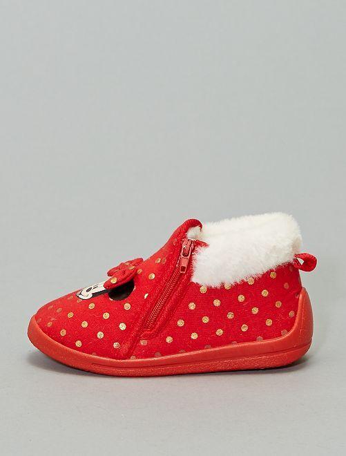 Zapatillas de casa forradas 'Minnie'                             rosa