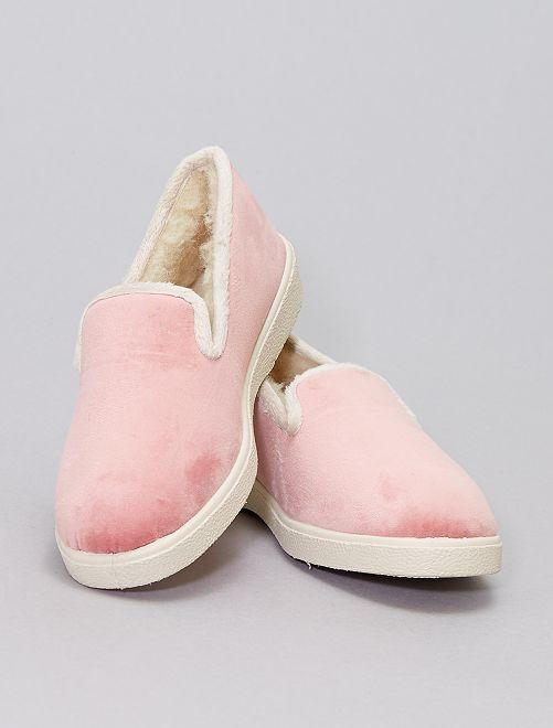 Zapatillas de casa forradas                             rosa