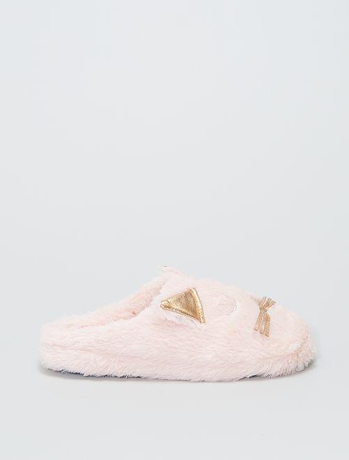 Zapatillas de casa 'gato'                     rosa