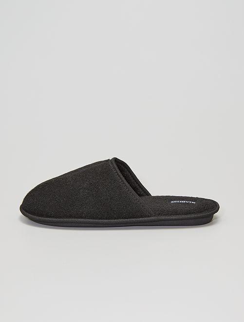 Zapatillas de casa hombre                                         negro