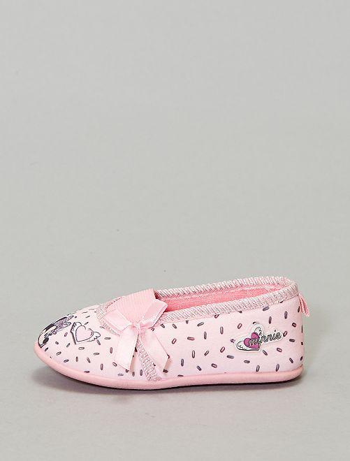 Zapatillas de casa 'Minnie'                                         rosa