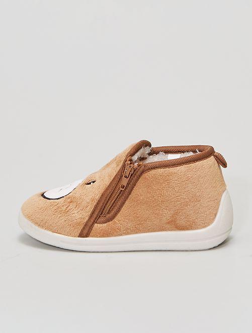 Zapatillas de casa 'Osito'                             castaño