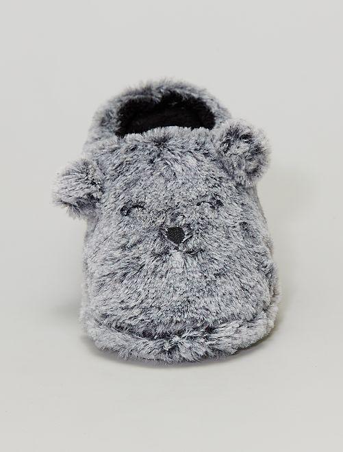 Zapatillas de casa 'oso'                             gris