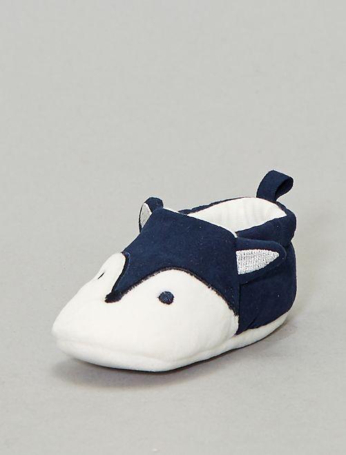 Zapatillas de casa reno                                         AZUL