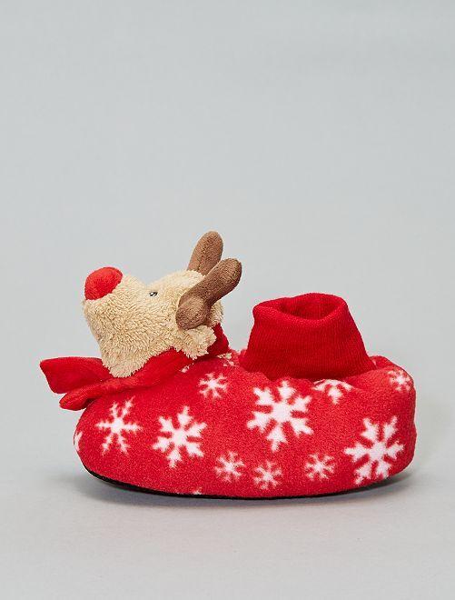 Zapatillas de casa 'Reno de Navidad'                             ROJO