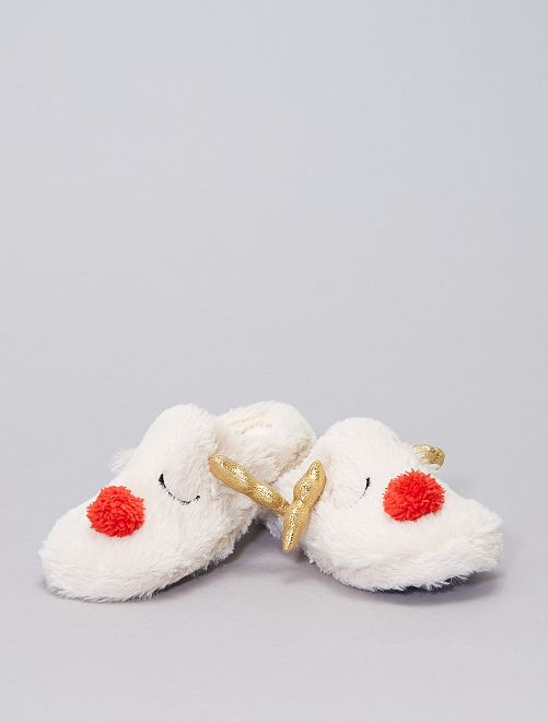 Zapatillas de casa renos                             BEIGE