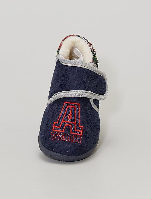 Zapatillas de casa tipo botas                             AZUL