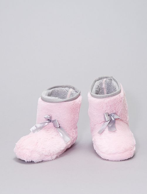 Zapatillas de casa tipo botas de punto                                         ROSA