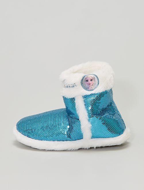 Zapatillas de casa tipo botines con lentejuelas 'Frozen'                             azul