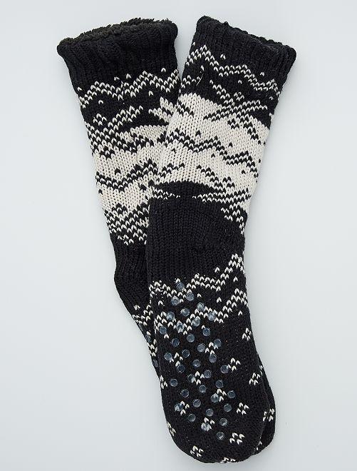 Zapatillas de casa tipo calcetines con pelo                                 crudo