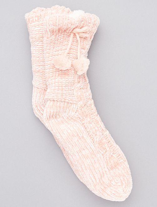 Zapatillas de casa tipo calcetines forradas                                                                 ROSA