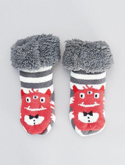 Zapatillas de casa tipo calcetines gruesos                                         rojo