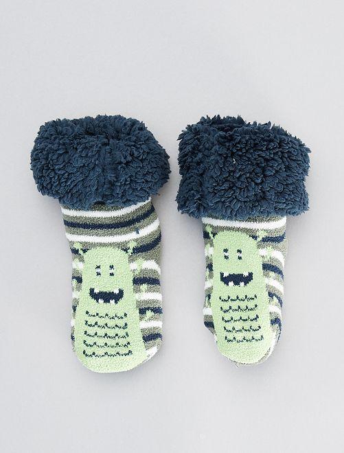 Zapatillas de casa tipo calcetines gruesos                                                     verde
