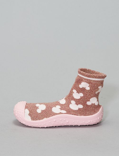 Zapatillas de casa tipo calcetines 'Minnie' 'Disney'                             rosa