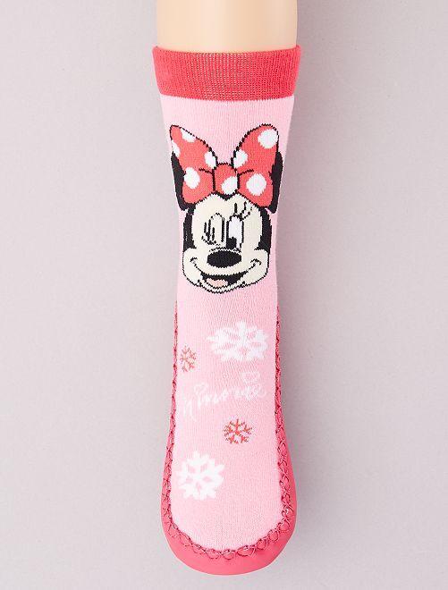Zapatillas de casa tipo calcetines 'Minnie'                                         rosa
