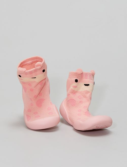Zapatillas de casa tipo calcetines                                         ROSA