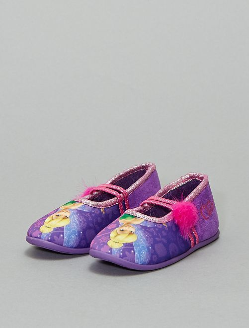 Zapatillas de casa tipo manoletinas 'Campanilla'                             PURPURA