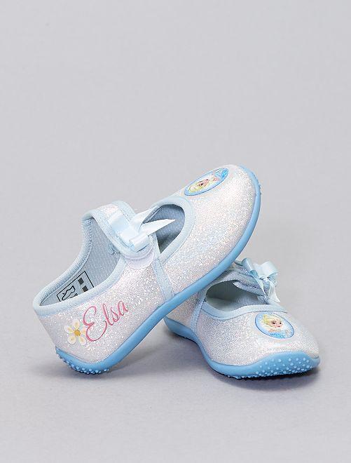 Zapatillas de casa tipo manoletinas 'Frozen'                             BLANCO
