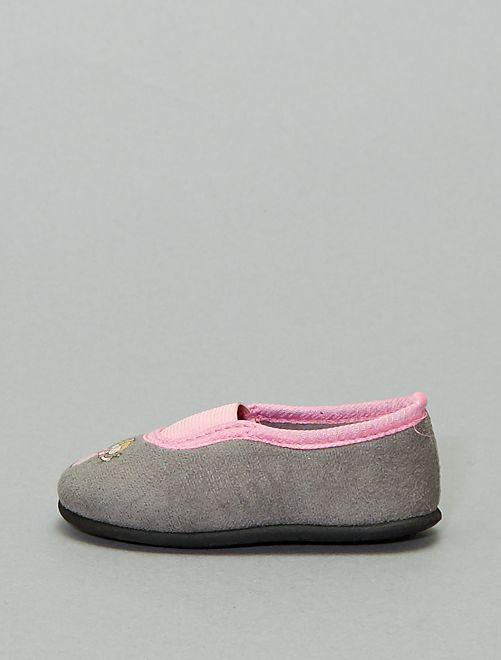 Zapatillas de casa tipo manoletinas 'hada'                             gris