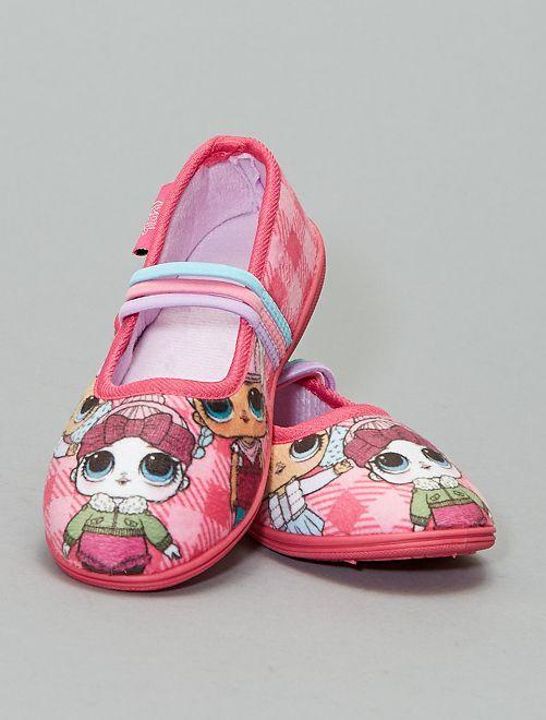 Zapatillas de casa tipo manoletinas 'LOL Surprise'                             ROSA