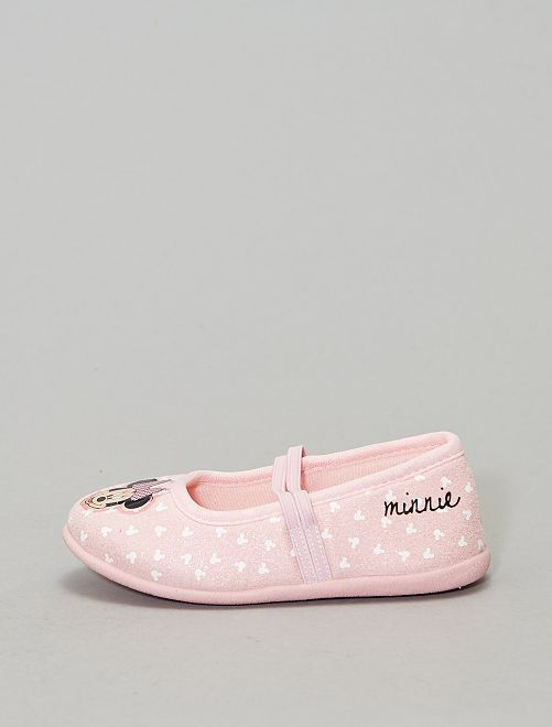 Zapatillas de casa tipo manoletinas 'Minnie' 'Disney'                             ROSA
