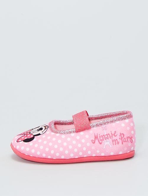 Zapatillas de casa tipo manoletinas 'Minnie'                             rosa