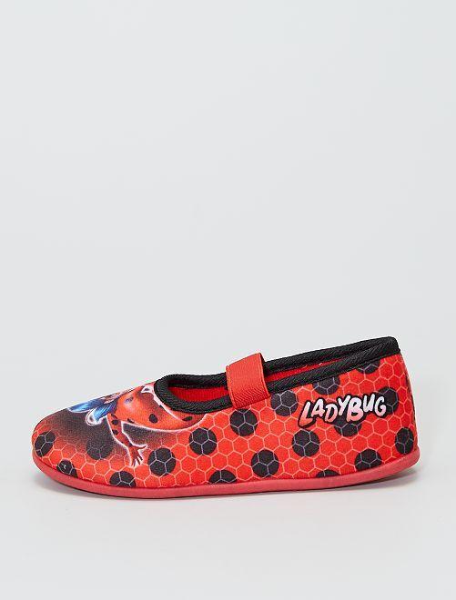 Zapatillas de casa tipo manoletinas 'Miraculous'                             rojo