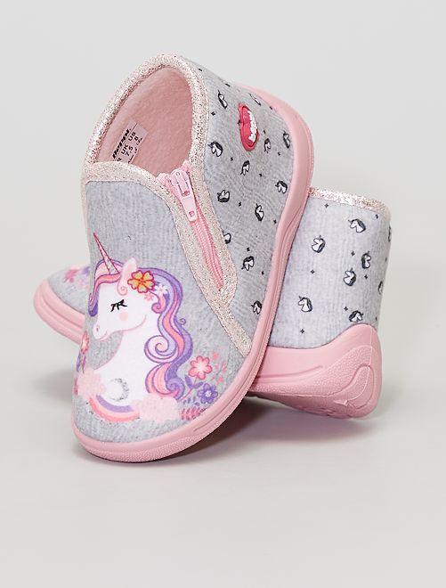 Zapatillas de casa 'Unicornio'                             ROSA