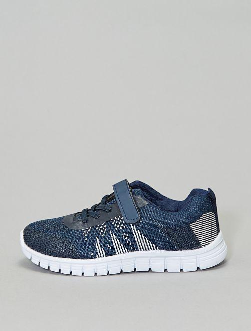 Zapatillas de deporte ligeras con cordones elásticos                                         azul navy
