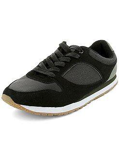 Zapatos - Zapatillas de estilo deportivo de dos materiales
