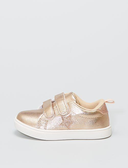 Zapatillas de estrellas con velcro                             rosa