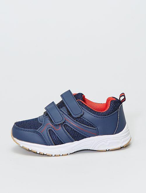 Zapatillas de malla con velcro                             azul navy