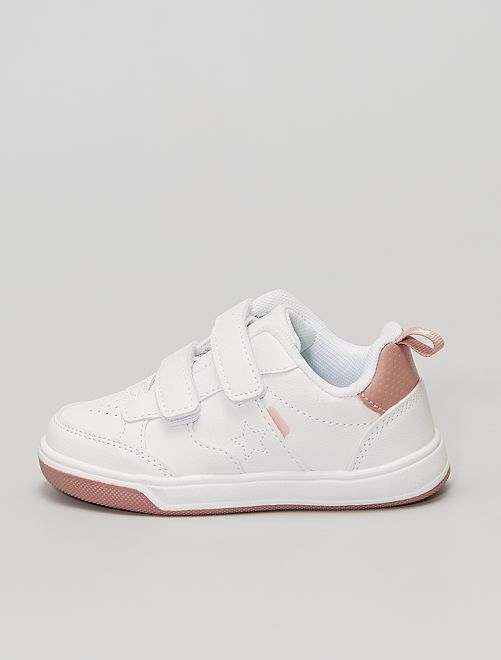 Zapatillas de material sintético con velcro                                         blanco