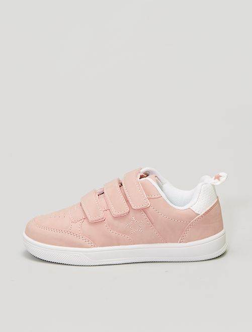 Zapatillas de piel sintética bordadas 'estrella'                                         rosa