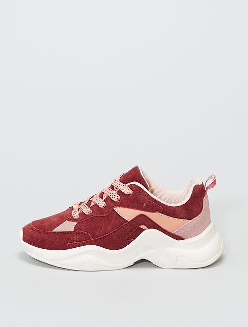 Zapatillas de running antelina                             rosa