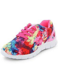 Zapatos niña - Zapatillas de running multicolores - Kiabi