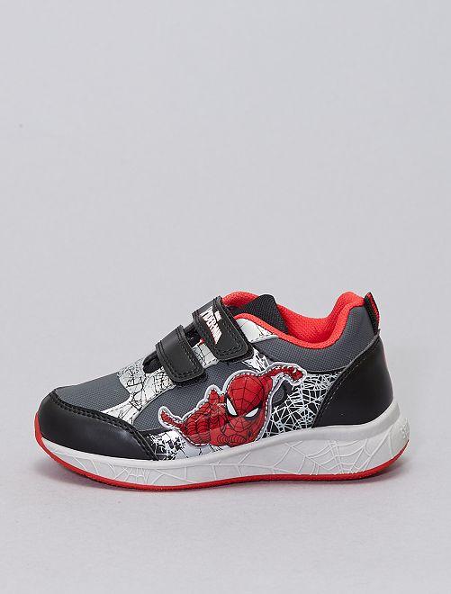 Zapatillas de 'Spider-Man' con velcro                             negro