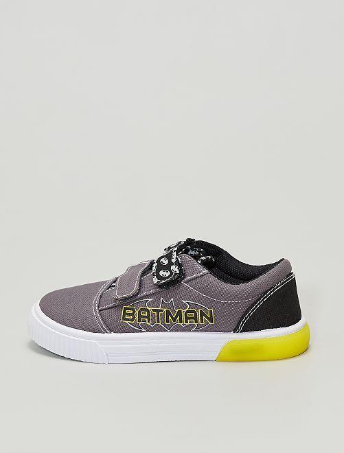 Zapatillas de tela 'Batman' 'DC Comics' con velcros                             gris oscuro