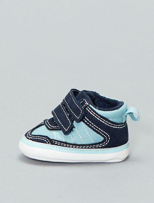 Zapatillas de tela bicolor                             azul claro/navy Bebé niño