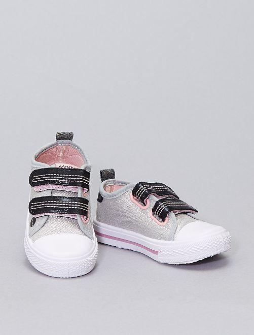 Zapatillas de tela brillantes 'Minnie Mouse' 'Disney'                             gris
