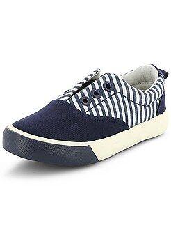 Zapatillas de tela con estampado y elástico