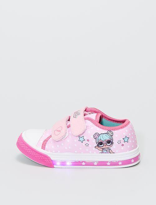 Zapatillas de tela luminosas 'LOL Surprise'                             rosa