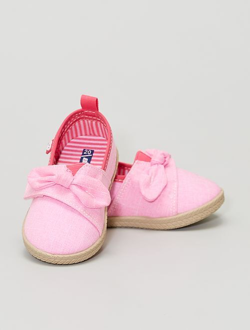 Zapatillas de tela perfumadas                             rosa