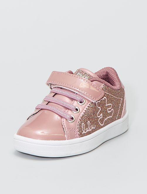Zapatillas de vinilo brillantes 'Lulu Castagnette'                             viejo rosa